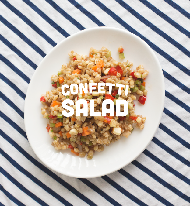 Confetti Salad with Pearl Barley // Wit & Vinegar