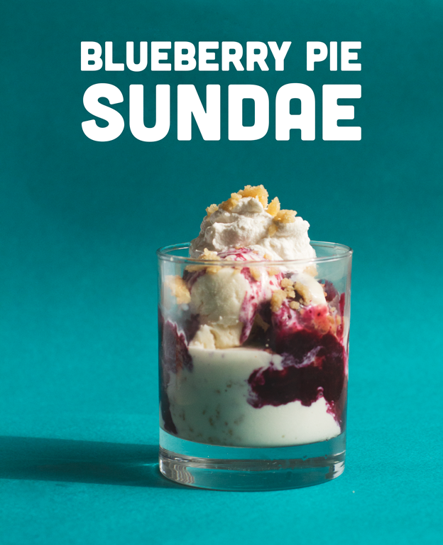 Blueberry Pie Sundae // Wit & Vinegar