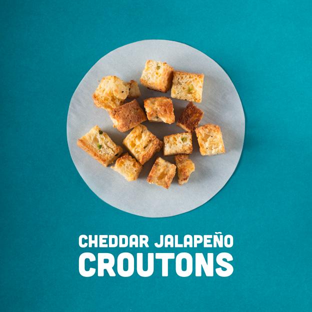 Cheddar Jalapeño Croutons // Wit & Vinegar