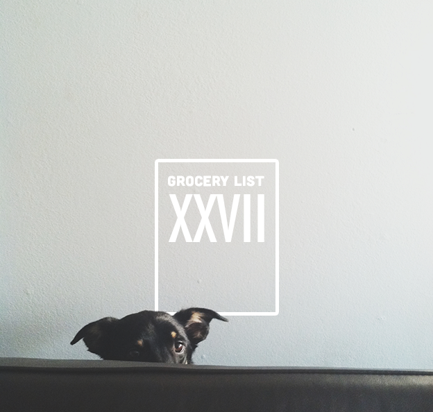 Grocery List XXVII // Wit & Vinegar