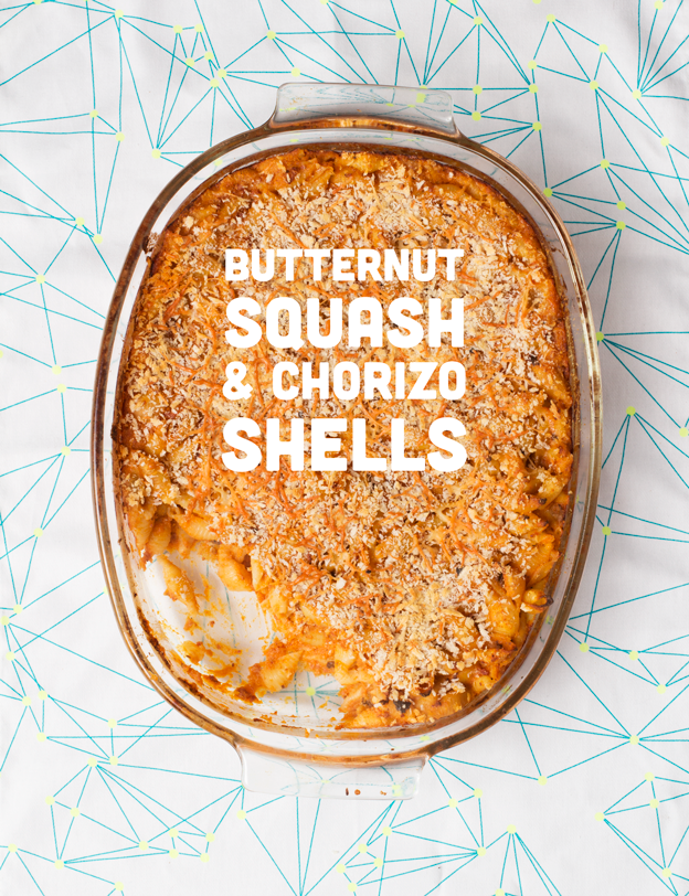 Butternut Squash & Chorizo Shells // Wit & Vinegar