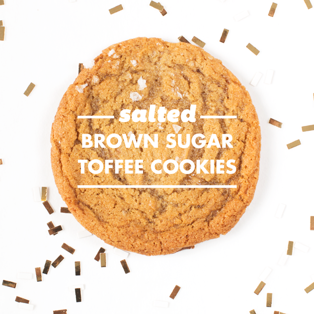 Salted Brown Sugar Toffee Cookies // Wit & Vinegar