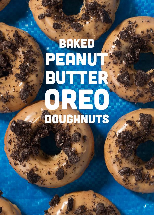 Baked Peanut Butter Oreo Doughnuts // Wit & Vinegar
