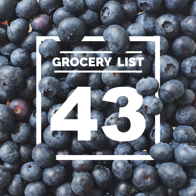 GROCERY LIST 43 // WIT & VINEGAR