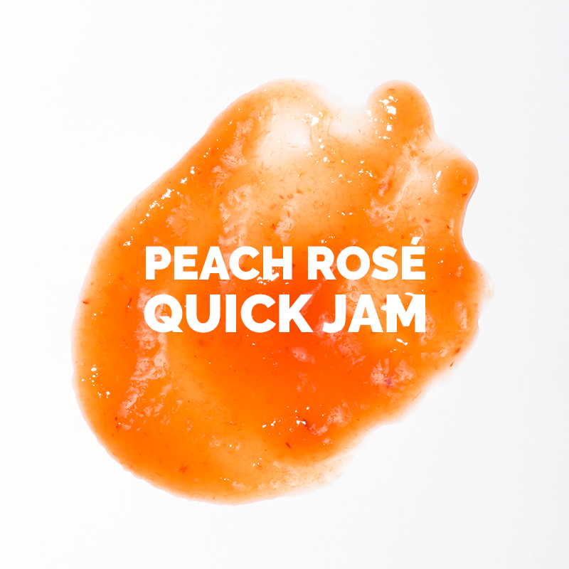 Peach Rosé Quick Jam // Wit & Vinegar