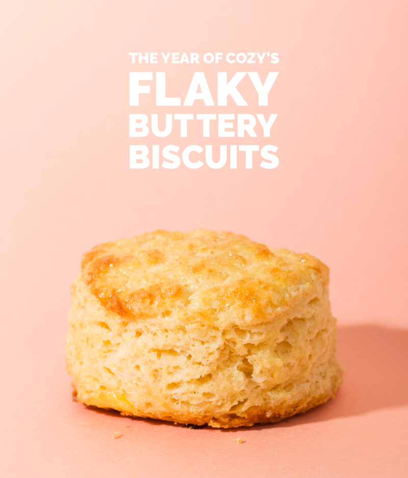 The Year of Cozy's Flaky, Buttery Biscuits // Wit & Vinegar