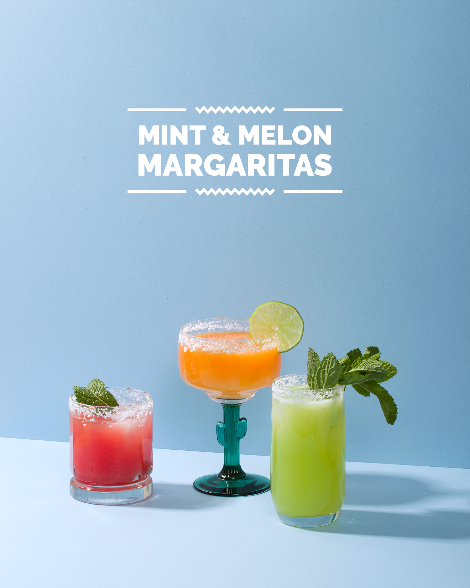 Mint & Melon Margaritas // Wit & Vinegar