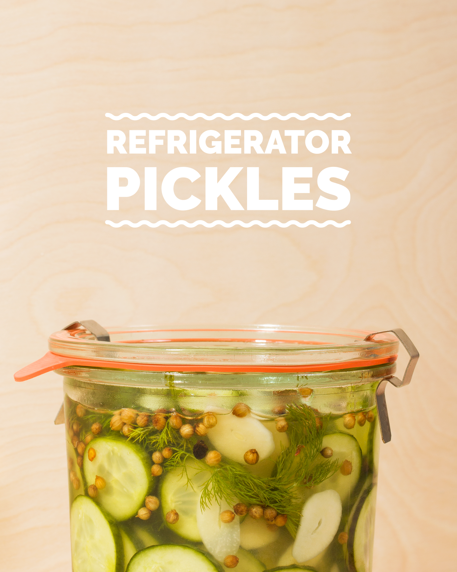 Refrigerator Pickles // Wit & Vinegar
